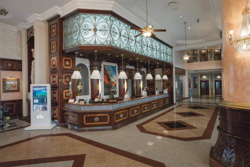 Riu Palace Las Americas  Reception