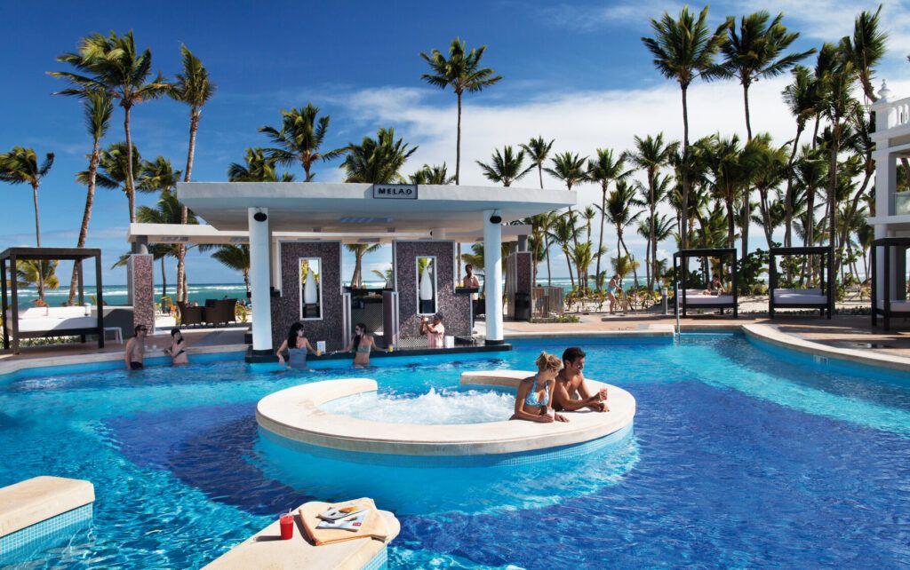 Riu Palace Bavaro pool with swim-up bar